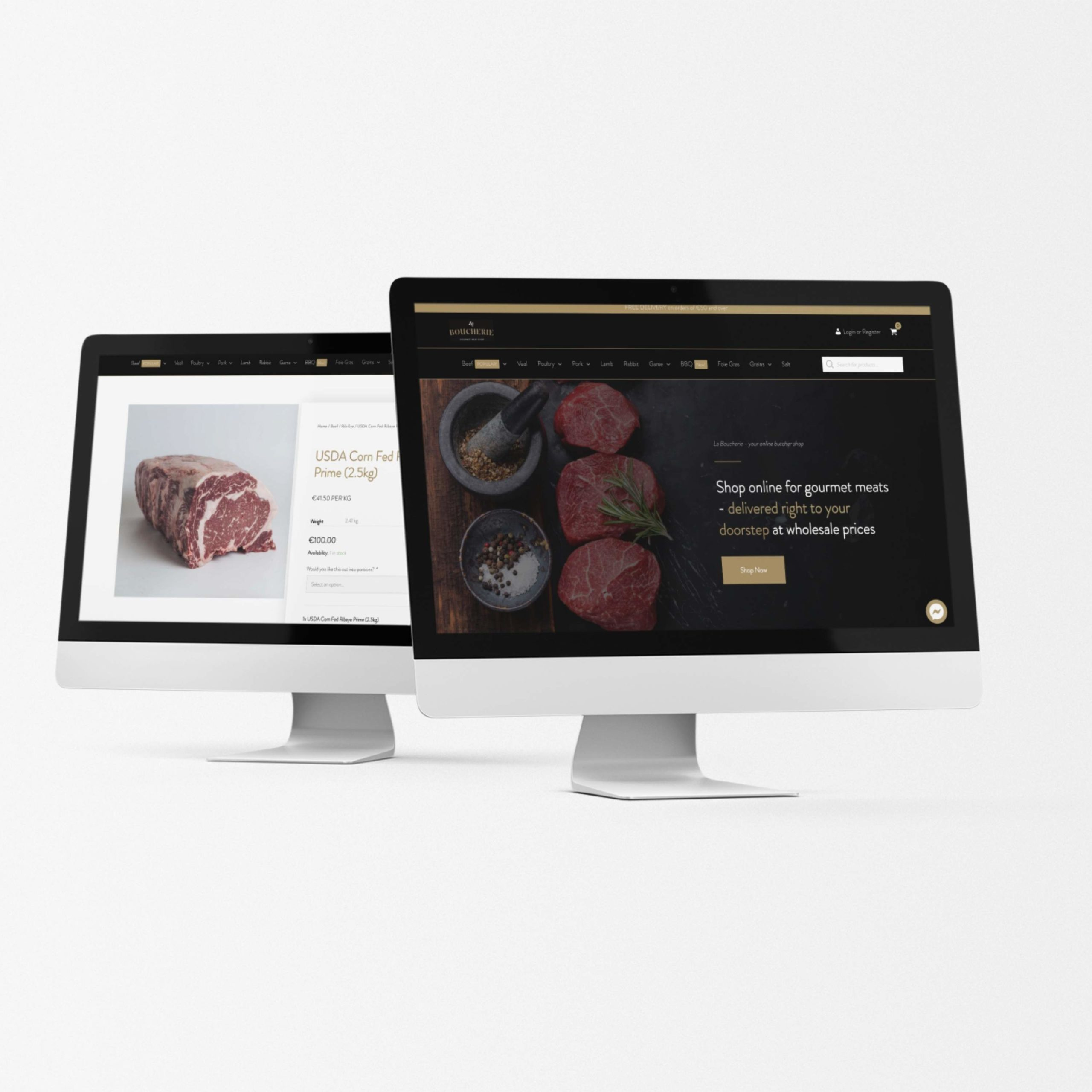 Online shop design and development for La Boucherie