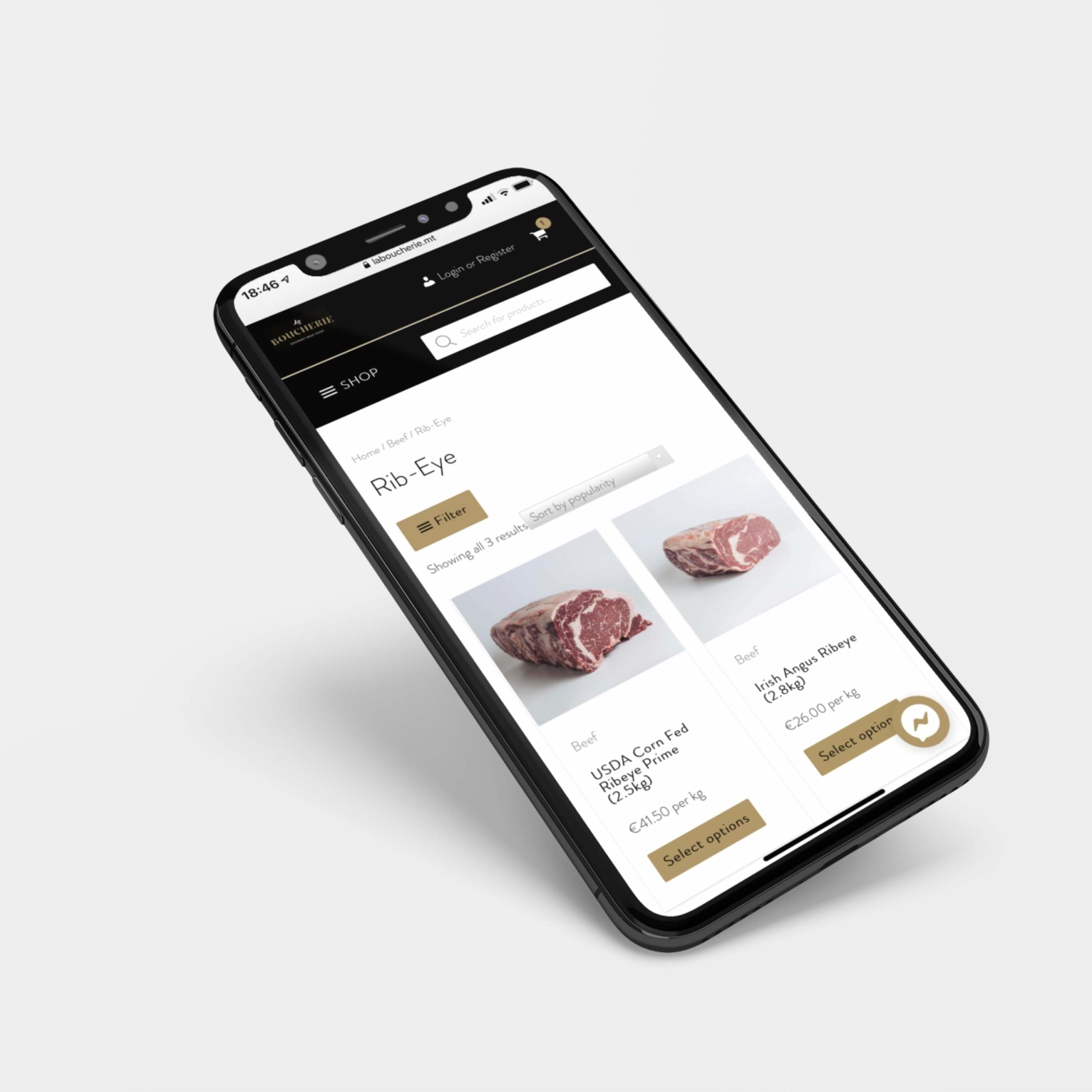 Mobile responsive e-commerce website