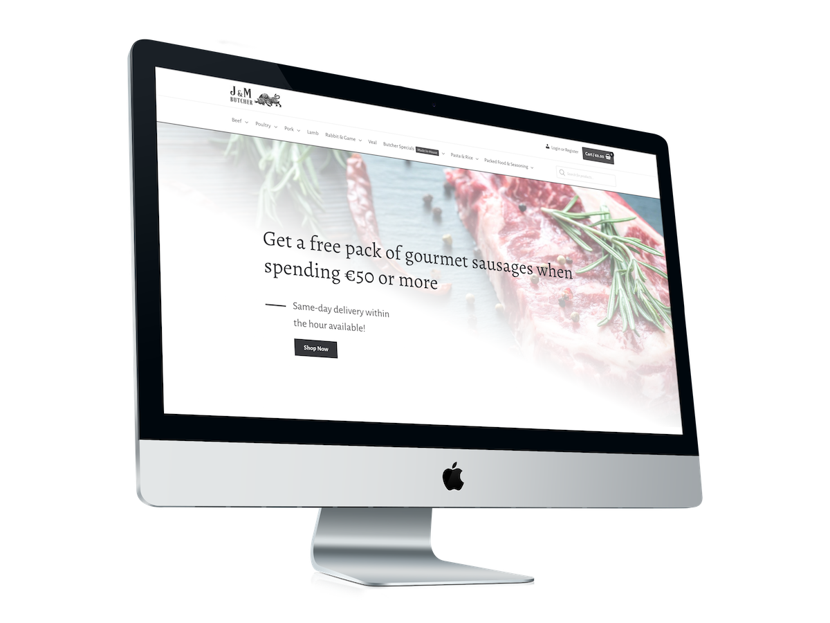 Bullshark designed J&M BUtcher's cutting-edge website
