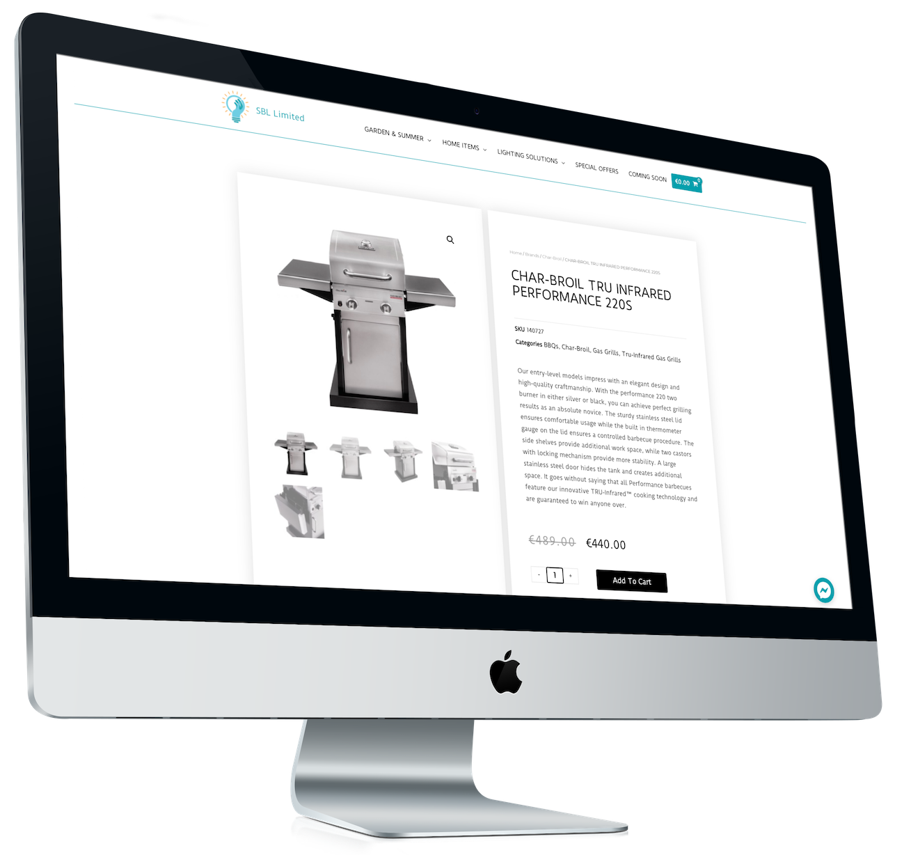 Sell online with a powerful e-commerce website